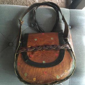 Vintage leather hippie bag